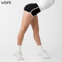 WSFS Yaz Şort Kadın Pamuk Seksi Spor Şerit Kısa Pamuklu Yüksek Bel Kot Biker Spor Harajuku Ganimet Şort Sıcak Pantolon