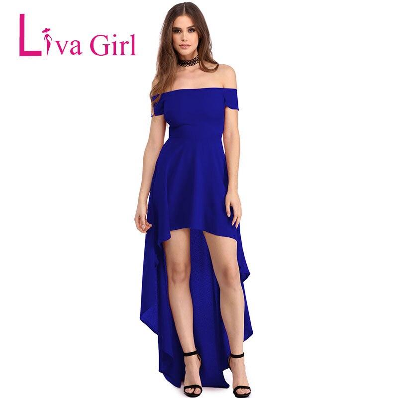 c4c78e875a792 LIVA GIRL 2019 Sexy Mermaid Party Dress Women Summer Plus Size Off Shoulder  High Low Evening Maxi Dresses Female Vestidos Robe