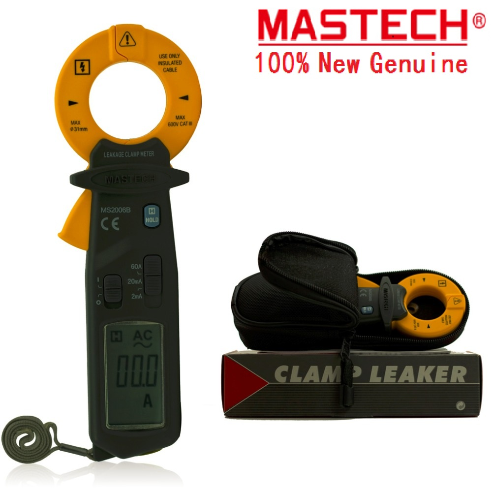 2017 New Brand New MASTECH MS2006B Digital Clamp Meters AC Current Tester AC Leakage Clamp Meter 0.001mA Resolution 1302 fish bait sickle tail soft bait fish soft 105 6 5g capuchin five loaded
