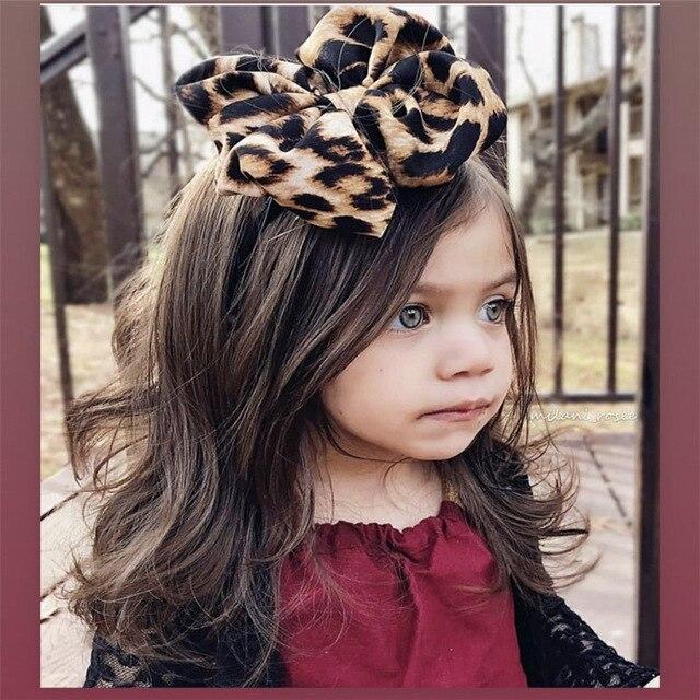 Leopard Headband For Baby Hair Accessories Baby Headband Bandeau Bebe Fille Baby Girl Headbands Baby Turban Bows