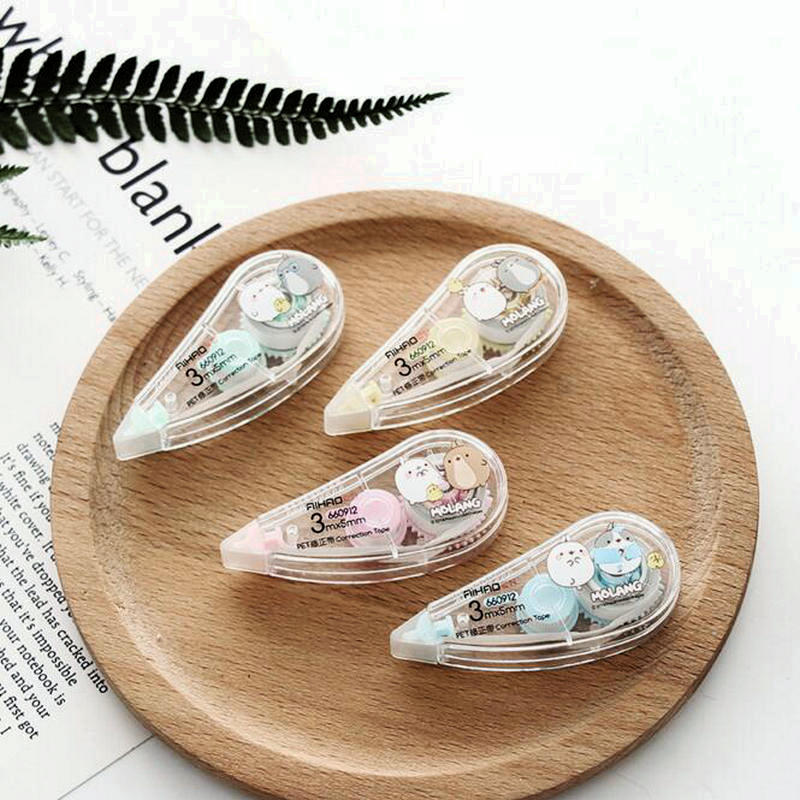 2 Pcs/Pair Kawaii Rabbit Correction Tape For Student And Children Diary School Office Stationery Tool