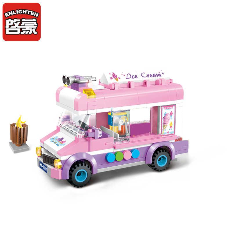 להאיר 1112 אבני נייד קרח קרם משאית אבני בניין 213 + PCS לבנים DIY בני & בנות צעצועים לילדים