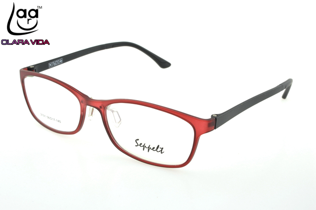 2286ab9b25a ONLY 7G Large Red TR Ultra Light Memory Nerd Glasses Frame Custom Made  Optical Prescription myopia