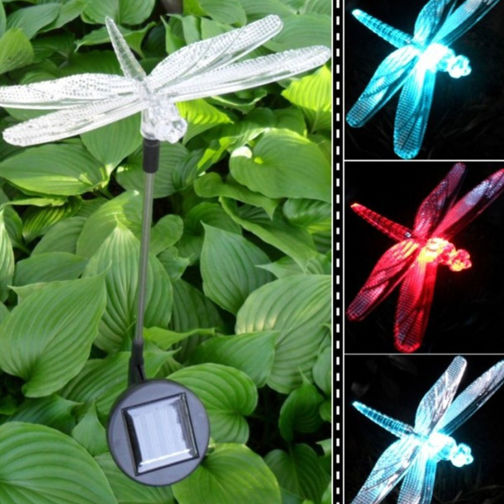 LED Solar Light Outdoor Dragonfly/Butterfly/Bird Type Solar Lamp ...