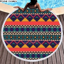 Bear Totem/Native Indian Bath Towel for Beach Thick Round 3d print Fabric Quick Compressed Towel new style-3 indian elephant print chiffon round beach throw