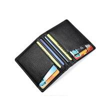 Супер тонкий мягкий кошелек из овечьей кожи, мини кошелек для кредитных карт, мужской кошелек, тонкий маленький