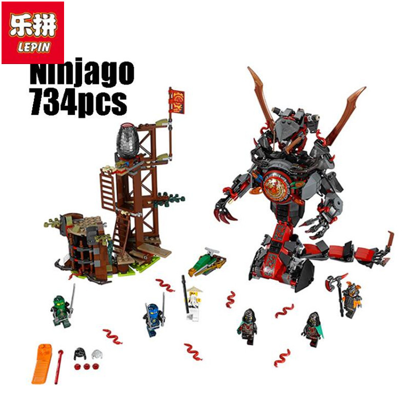 Lepin 06042 734pcs Ninja Dawn of Iron Doom Building Blocks Bricks anime action figures Toys for children Gifts compatible qmn women genuine leather platform flats women lace cut glossy leather square toe brogue shoes woman lace up leisure shoes 34 39
