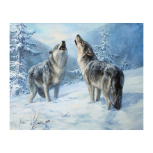5D DIY Diamond painting Cross stitch Full square embroidery full round mosaic Wolf