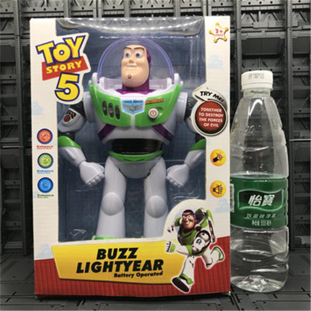 2018 new arrival toy story5 buzz lightyear toys lights voices speak