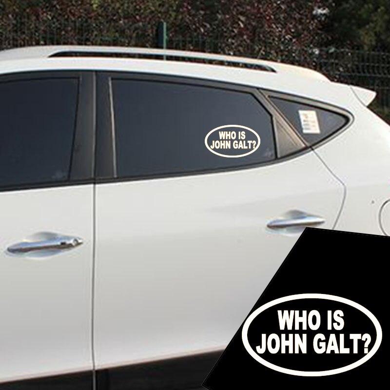 Us 12 99 Wholesale 10 Pcs Lot 15cm X 10cm Who Is John Galt Car Sticker For Truck Window Bumper Auto Suv Door Laptop Kayak Vinyl Decal In Car