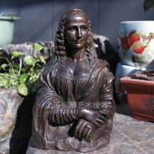 Monalisa bronze sculpture crafts European classical statue art decoration Home Furnishing