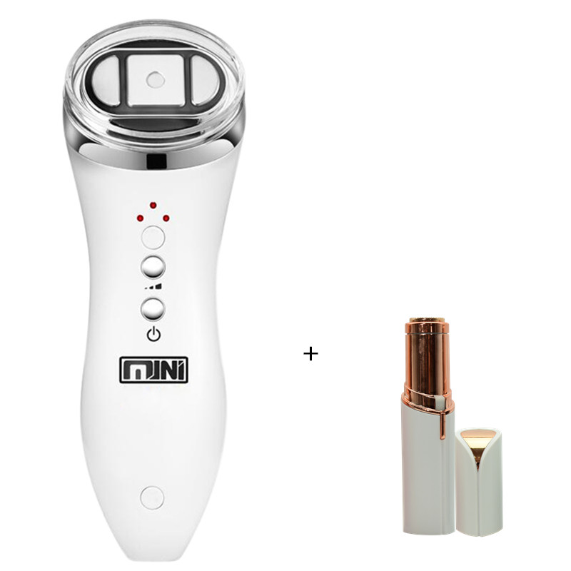 Mini Hifu Focused Ultrasound Bipolar RF Face Neck Lifting Beauty Massager Wrinkle Removal Tightening and firming Radio Frequency ultrasonic mini hifu high intensity focused ultrasound facial lifting machine face lift rf led anti wrinkle skin care spa beauty