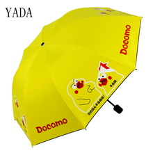 YADA Custom Charm Cartoon Chicken Folding Children Rain Women uv High Quality Umbrella For Windproof Patio Umbrellas YS279