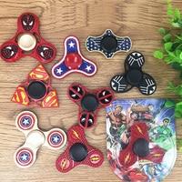 Hot Cool EDC Toy Superhero Iron Man Batman Deadpool Avengers Hand Spinner Triangle Fingertip Gyroscope Fidget
