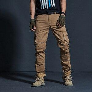 Image 5 - Vômito Estilo Militar dos homens Carga Calças Dos Homens Impermeável Respirável Calças Masculinas Corredores Exército Bolsos Das Calças Casuais Plus Size