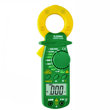 RICHMETERS 206A Digital Clamp Meter Multimeter Meter 1999 counts Backlight AC/DC Ammeter Voltmeter Ohm Avometer Portable  Meter