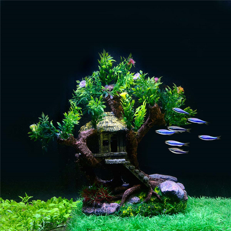 New Aquarium Plants Decoration Fish Tank Old Tree Trunk Decorative Ornaments For Decor Plastic In Decorations From Home