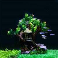 New Aquarium Plants Decoration Fish Tank Old Tree Trunk Decorative Ornaments For Aquarium Fish Tank Plants Decor Plastic Plants