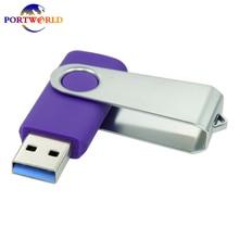 Free Rotation 64GB Memory Stick USB3.0 Flash Drive Fast Speed Pen Drive Gift Purple