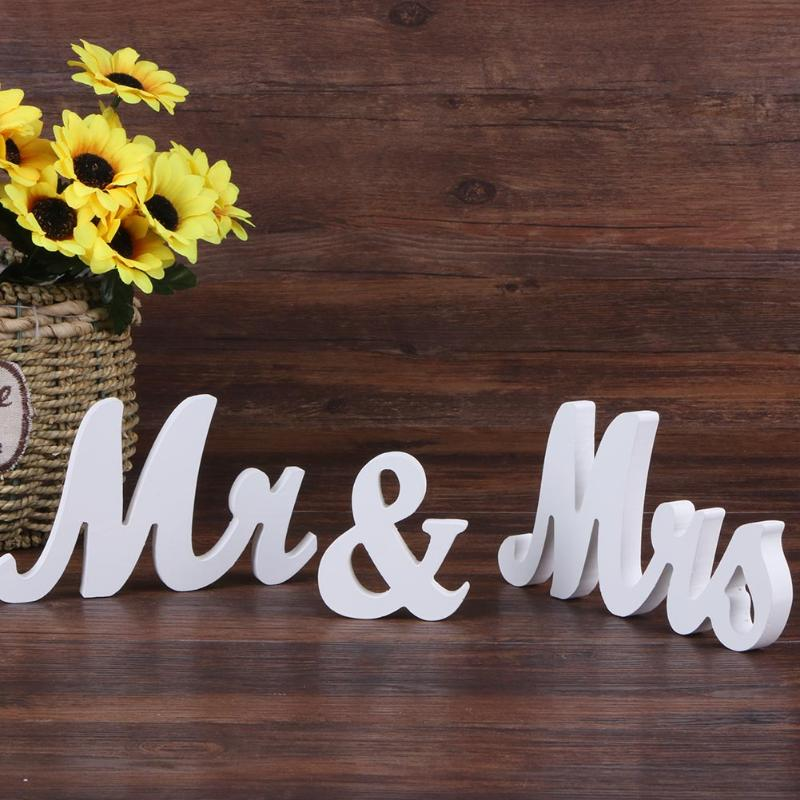 Party Wedding Sign Mr & Mrs Wedding Table Sign DIY Decoration Mr Mrs Wedding Marriage Party Decoration Signs Board