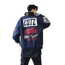 bfe9d3cec2b78 Botín bombardero chaqueta hombres chaqueta de moda de otoño coreano  Streetwear rompevientos Retro Hip Hop de La Piloto vuelo cha.
