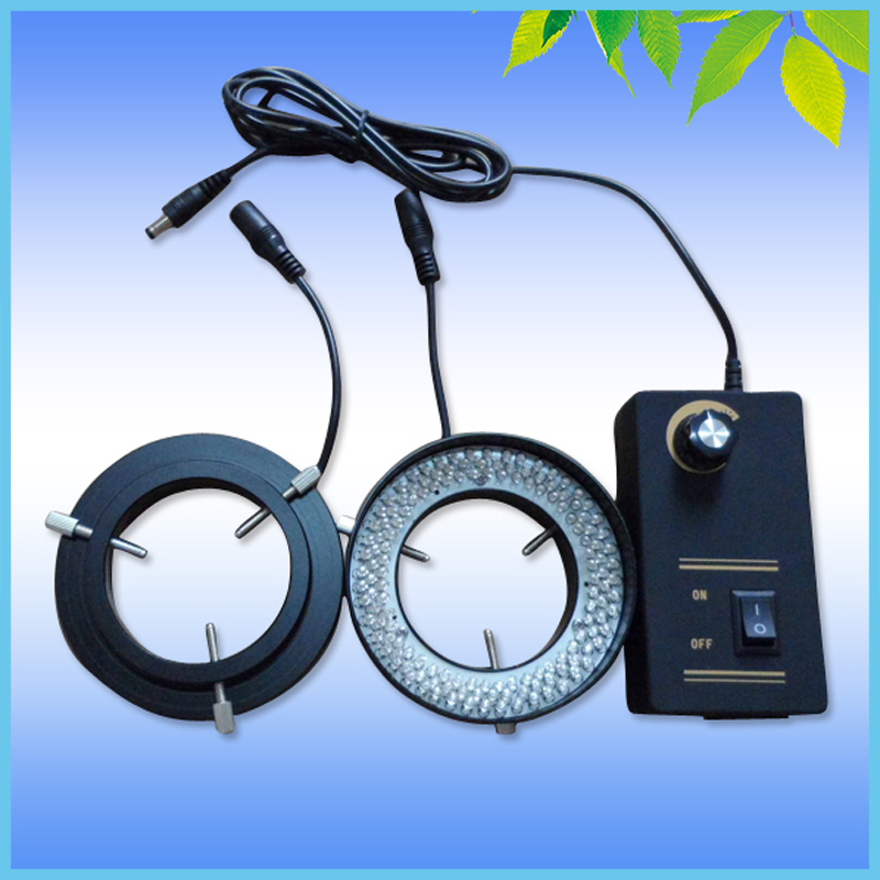 Microscope Illuminator 144 LED Ring Light White Ring Lamp with Adapter 90V-240V microscope ring light microscope d fluorescent lamp