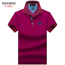 New 2018 Men Polo SHABIQI Brand Clothing Male Fashion Polo Shirt Men Casual Lapel Polo Shirts 5XL 6XL 7XL 8XL 9XL 10XL