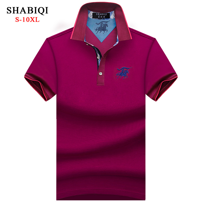 New 2019 Men   Polo   SHABIQI Brand Clothing Male Fashion   Polo   Shirt Men Casual Plus Size   Polo   Shirts 5XL 6XL 7XL 8XL 9XL 10XL