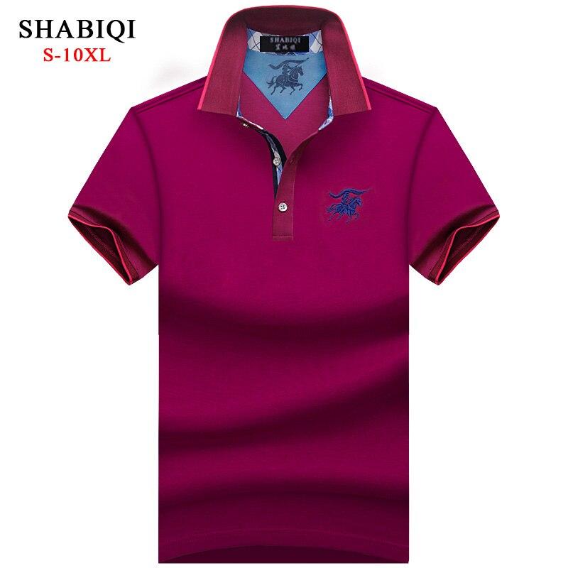 Мужская Повседневная рубашка поло SHABIQI, большие размеры, 5XL, 6XL, 7XL, 8XL, 9XL, 10XL, 2019|Поло|   | АлиЭкспресс