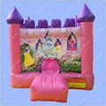 Pink Princess Inflatable Bouncy Castle,Inflatable Jumping Castle, Pink Bouncy House for Kids