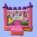 Rosa Princesa Inflável Castelo Inflável, Castelo Inflável do salto, rosa Casa Insuflável para Crianças