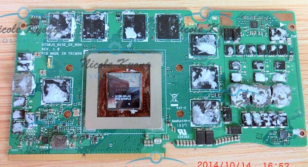 G750JS Ver 60NB04M0-VG1020 69N0QWV10C02-01 GTX 870 M GTX870M DDR5 3 GB VGA Vidéo Carte Pour Asus G750JS ordinateur portable