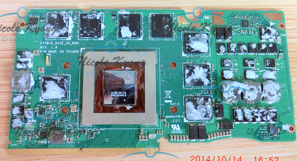 G750JS Ver 60NB04M0-VG1020 69N0QWV10C02-01 GTX 870M GTX870M DDR5 3GB VGA Video Card For Asus G750JS laptop