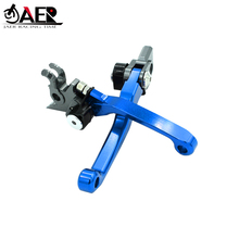 JAER CNC Billet Foldable Pivot Clutch Brake Lever For SUZUKI RMX250S 1993 1994 1995
