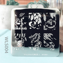 6*6cm Square Nail Stamping Plates Sky Lace Flower Animal Pattern Art Stamp Template Image Plate Stencils