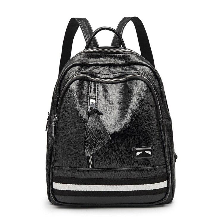 free shipping pu leather Female backpack school bag high quality women bag Teenage Girls Travel Casual Sac цена