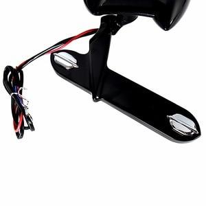 Image 5 - Czarny błyszczący Fairing zamontowane światła do jazdy kierunkowskazy dla Harley 1996 2013 Elctra przemieszczanie się po ulicy i 1996 2018 Road King