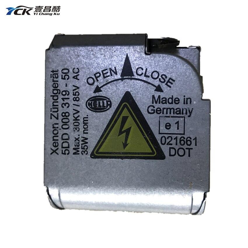 1PC YCK 5DD 008 319 - 50 Headlight Silver HID Xenon Ballast Igniter 5DD00831950 Car Accessories (Genuine And Used)