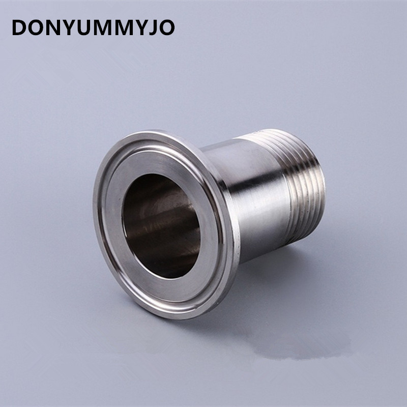 1 DN25 Stainless Steel SS304 Sanitary Male Threaded Ferrule OD 50.5mm fit 1.5 Tri Clamp megairon new style38mm 1 1 2 sanitary fitting diaphragm valve clamp type stainless steel ss sus 316