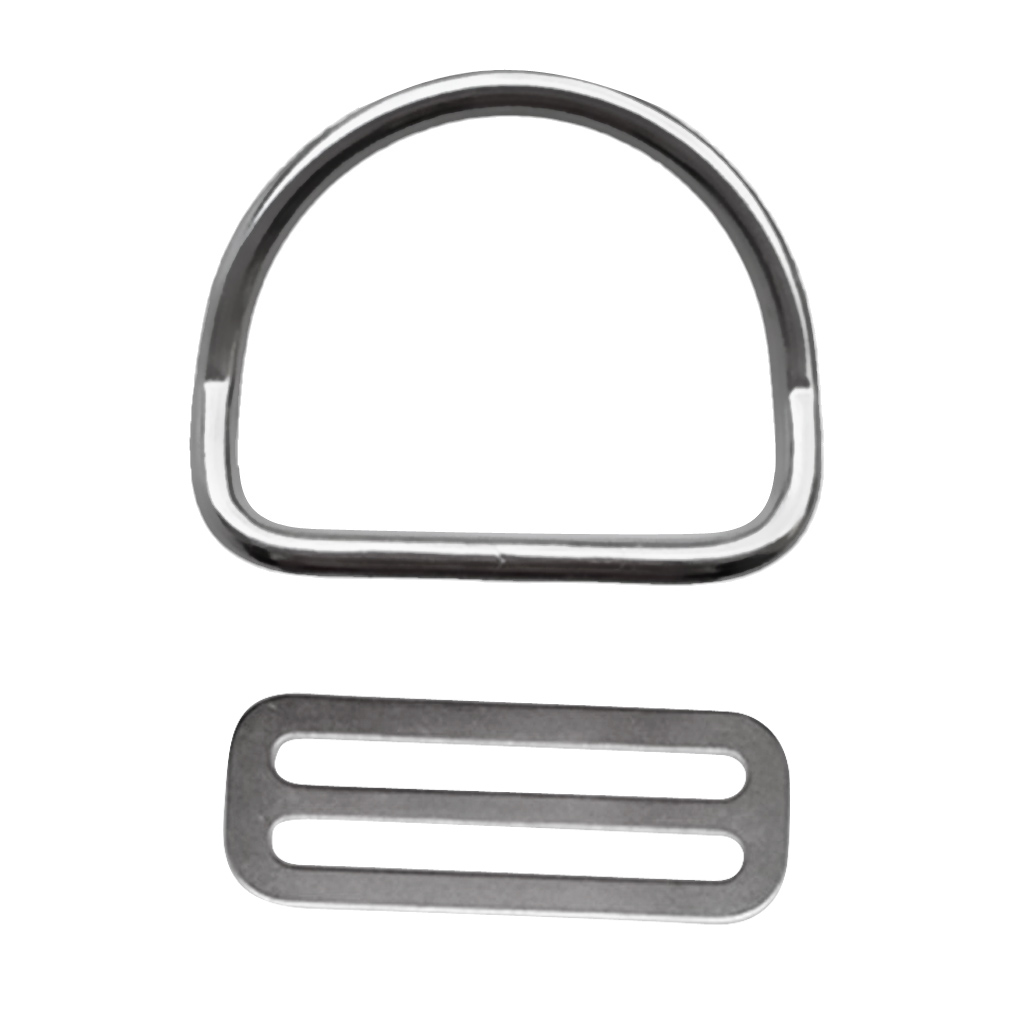 Universal 2 Inch Weight Belt Keeper Retainer & Bent D Ring For Scuba Diving Dive Snorkeling Underwater Sports Accessories