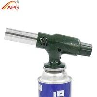 APG New outdoor butane gas lighter windproof jet torch