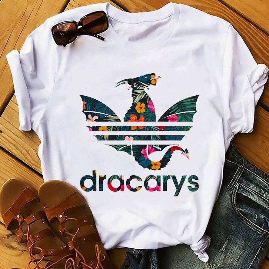 Чистый цвет волосы, как у дайнерис Дракон Camiseta Dracarys забавная футболка Для мужчин новые летние белые Повседневное получил футболки унисекс Прохладный в стиле Харадзюку уличная одежда, футболка