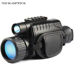Monocular visión nocturna infrarrojos ámbito Digital para la caza telescopio de largo alcance con cámara incorporada disparar foto de grabación de vídeo