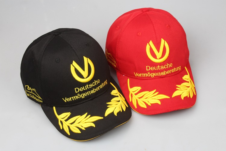 Deutsche Racer baseball cap Michael Schumacher Signature version Racing Caps F1 moto high quality Snapback Hats Embroidery coquette 40 48