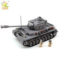 KAZI 1193pcs Large Military Tanks Building Blocks Toys For Children Tank Bricks Educational Bricks Toy Compatible