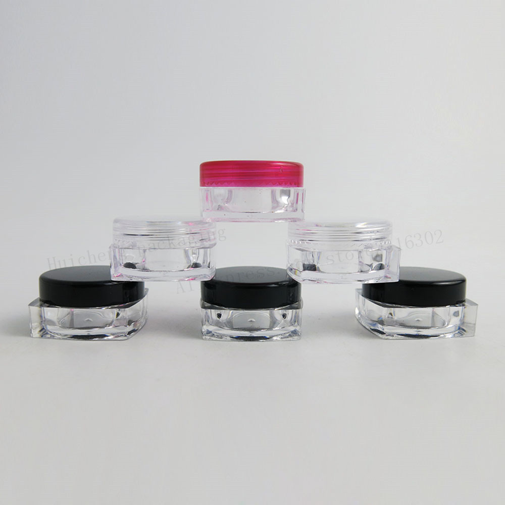 1000 x 5g Mini Travel Navulbare plastic cosmetische make-up crème - Huidverzorgingstools - Foto 1