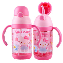 Hello Kitty 400 ml Mi Cartón Ecológico Botella de Agua de Plástico Libre De BPA Mi Botella de Agua Estudiante Tipo de Paja de Los Niños Los Niños