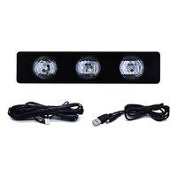 Car Atmospheres Lamp LED Interior Foot Light Ambient USB Decoration Sound Control M8617