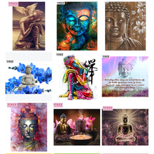 full square diamond embroidery buddha sit ,5d diy painting,diamond painting and light
