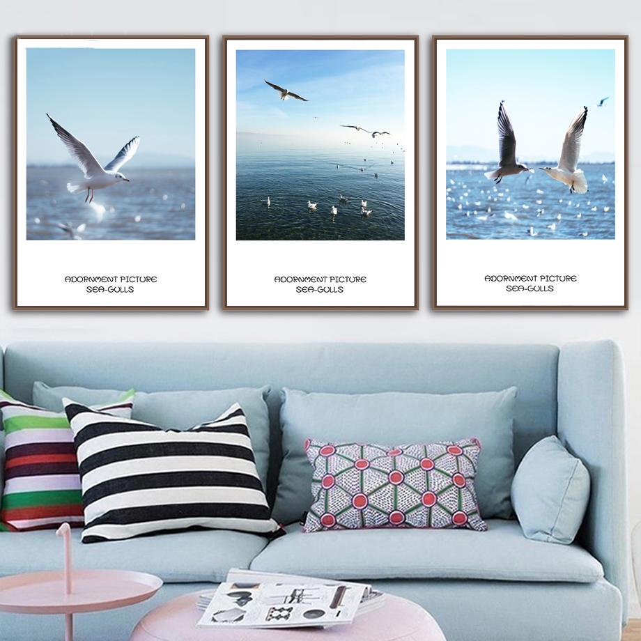 Gaivotas-7-Space-Sky-Sea-Wall-Art-Posters-E-Impress-es-Pintura-Da-Lona-N-rdico (3)